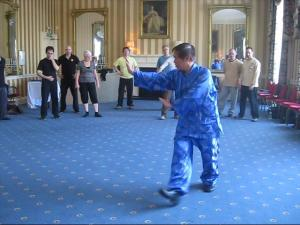 Grandmaster Wong Kiew Kit demonstrating much better Baguazhang and sense of style than me.
